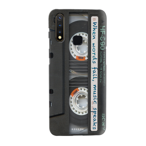 Sony Vintage Cassette Cover Case for Vivo U20