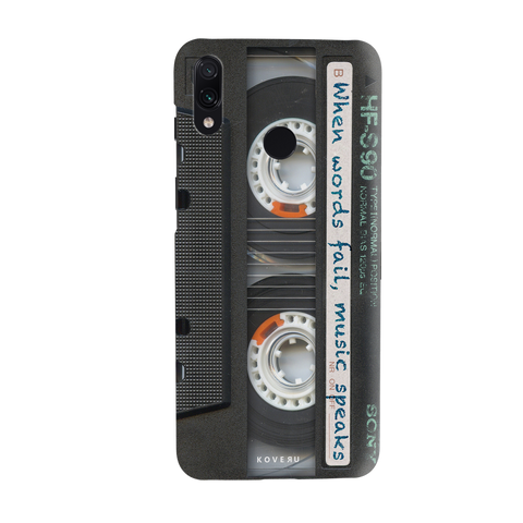 Sony Vintage Cassette Cover Case for Redmi Note 7