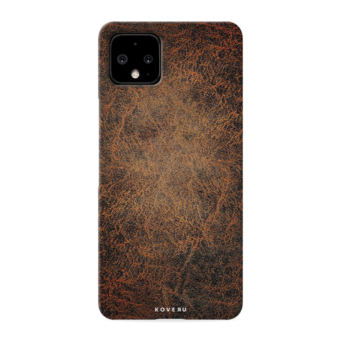 Leather Print Cover Case for Google Pixel 4