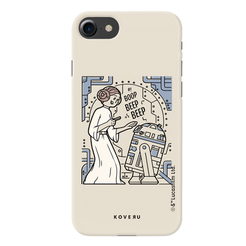 R2 And Leia Cover Case For iPhone 7/8