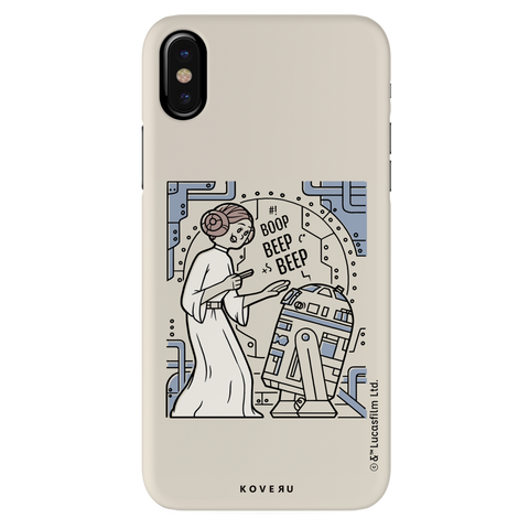 R2 And Leia Cover Case For iPhone X