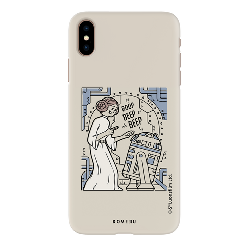 R2 And Leia Cover Case For iPhone XS Max
