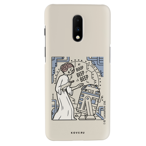 R2 And Leia Cover Case For OnePlus 7