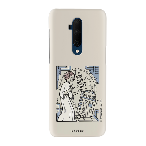 R2 And Leia Cover Case For OnePlus 7T Pro