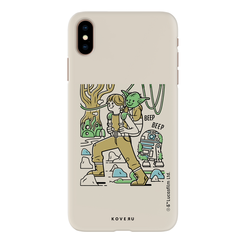 Luke And Yoda Cover Case For iPhone XS Max