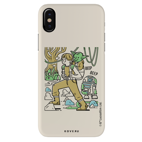 Luke And Yoda Cover Case For iPhone XS