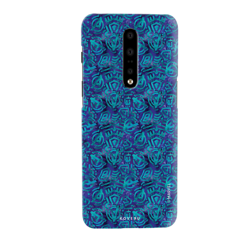 Avengers Emblem Pattern Blue Cover Case For OnePlus 7 Pro