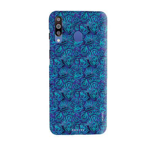 Avengers Emblem Pattern Blue Cover Case For Samsung Galaxy M30
