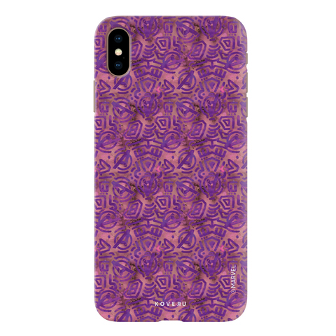 Avengers Emblem Pattern Purple Cover Case For iPhone XS Max