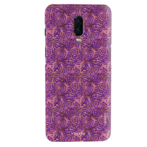 Avengers Emblem Pattern Purple Cover Case For OnePlus 6T