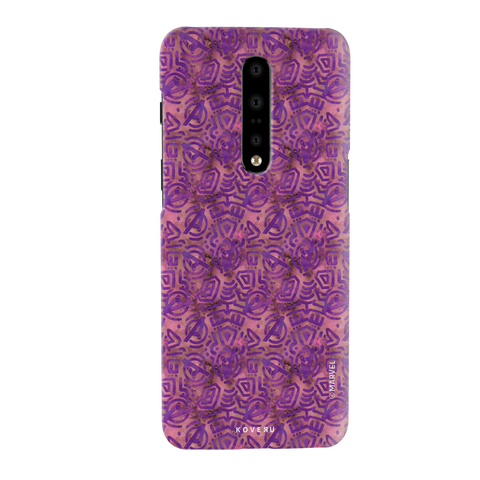 Avengers Emblem Pattern Purple Cover Case For OnePlus 7 Pro