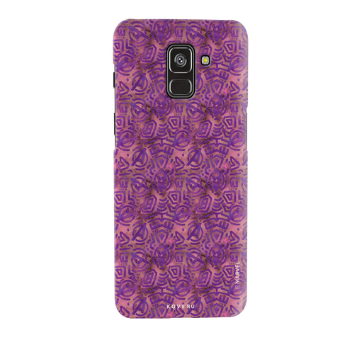 Avengers Emblem Pattern Purple Cover Case For Samsung Galaxy A8 Plus