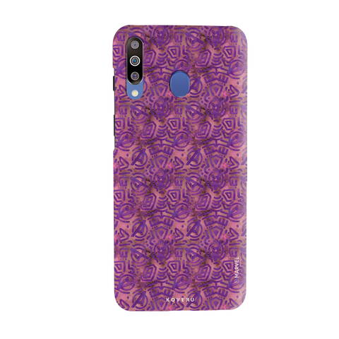 Avengers Emblem Pattern Purple Cover Case For Samsung Galaxy M30