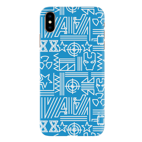 The Prime Avengers Blue Cover Case For iPhone XS Max