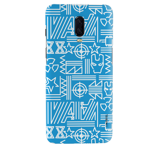 The Prime Avengers Blue Cover Case For OnePlus 6T