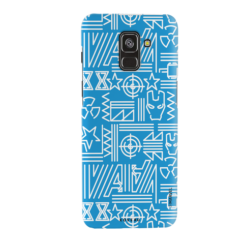 The Prime Avengers Blue Cover Case For Samsung Galaxy A8 Plus