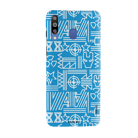 The Prime Avengers Blue Cover Case For Samsung Galaxy M30