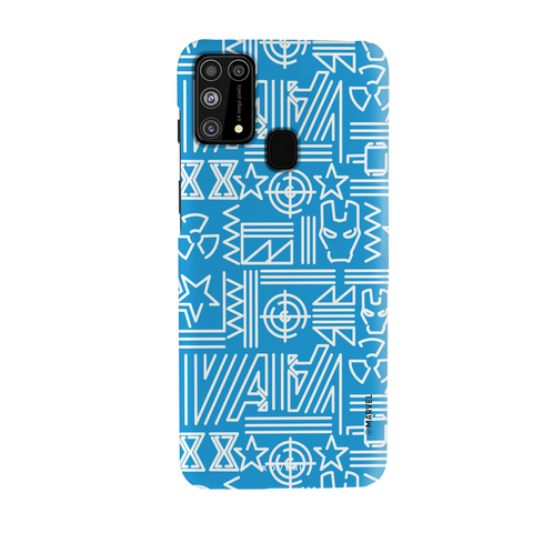 The Prime Avengers Blue Cover Case for Samsung Galaxy M31