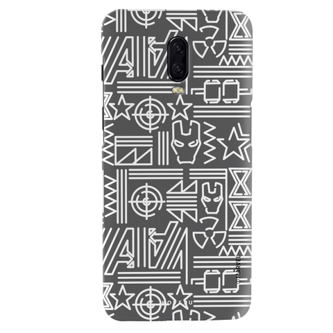 The Prime Avengers Grey Cover Case For OnePlus 6T