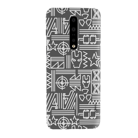 The Prime Avengers Grey Cover Case For OnePlus 7 Pro