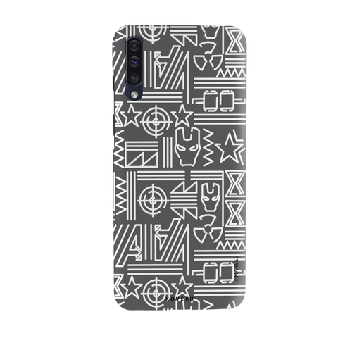 The Prime Avengers Grey Cover Case For Samsung Galaxy A50