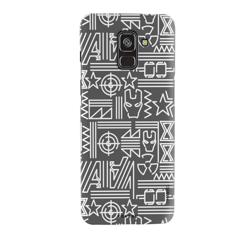 The Prime Avengers Grey Cover Case For Samsung Galaxy A8 Plus