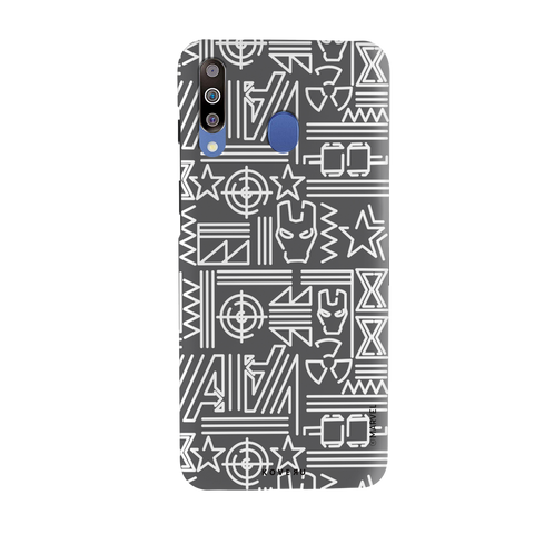 The Prime Avengers Grey Cover Case For Samsung Galaxy M30