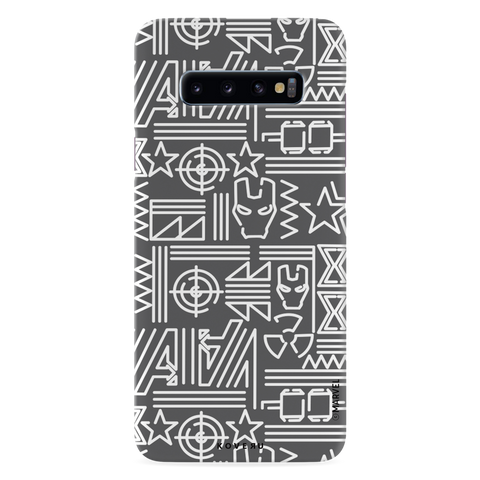 The Prime Avengers Grey Cover Case For Samsung Galaxy S10