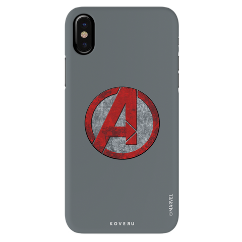 Avengers Emblem Cover Case For iPhone X