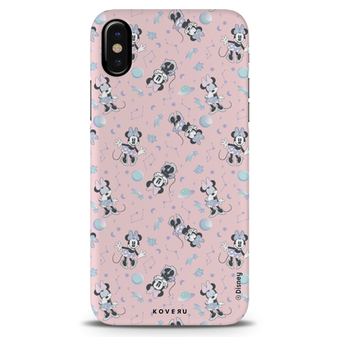 Minnie Mouse - Bubbly Pink Cover Case For iPhone X