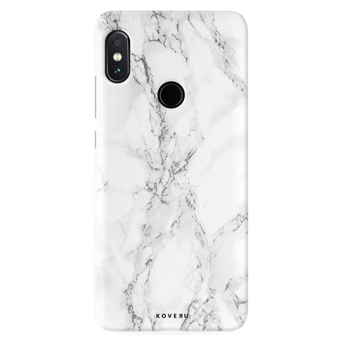 White Marble Cover Case For Redmi Note 5 Pro