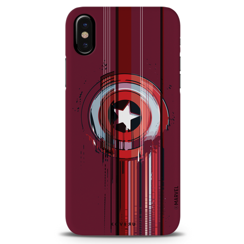 The stripes of Captain America Cover Case for iPhone XS