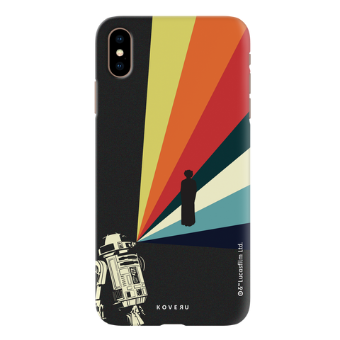 Star Wars: The Retro Message of Hope Cover Case for iPhone XS Max