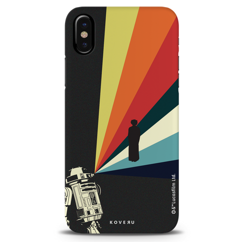 Star Wars: The Retro Message of Hope Cover Case for iPhone XS