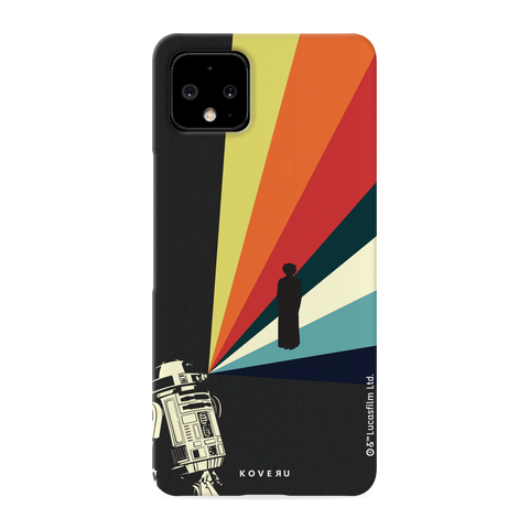 Star Wars: The Retro Message of Hope Cover Case for Google Google Pixel 4