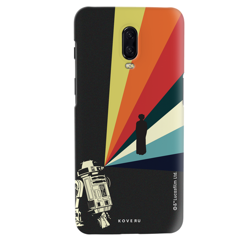 Star Wars: The Retro Message of Hope Cover Case for OnePlus 6T