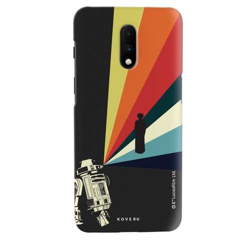 Star Wars: The Retro Message of Hope Cover Case for OnePlus 7