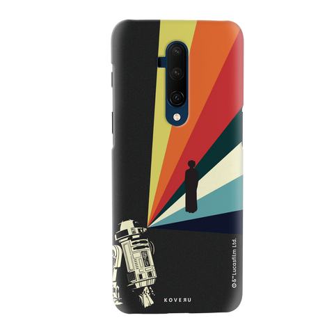 Star Wars: The Retro Message of Hope Cover Case for OnePlus 7T Pro