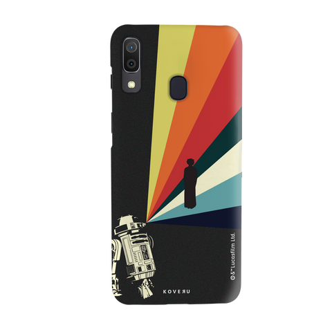 Star Wars: The Retro Message of Hope Cover Case for Samsung Galaxy A20