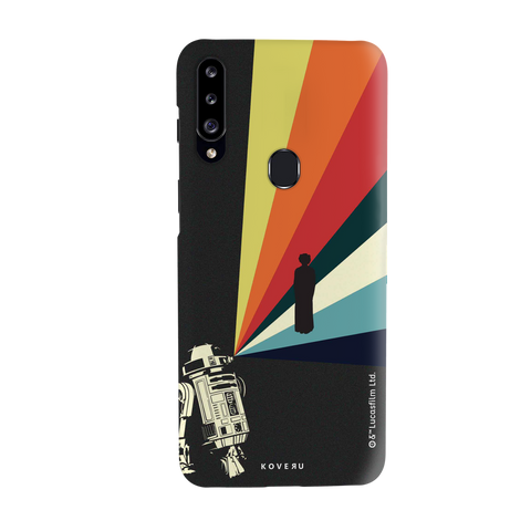 Star Wars: The Retro Message of Hope Cover Case for Samsung Galaxy A20S