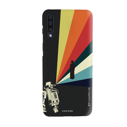 Star Wars: The Retro Message of Hope Cover Case for Samsung Galaxy A50