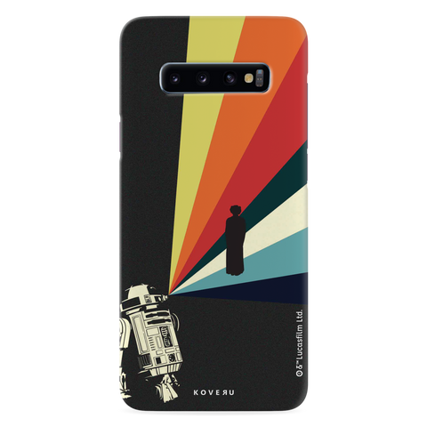 Star Wars: The Retro Message of Hope Cover Case for Samsung Galaxy S10
