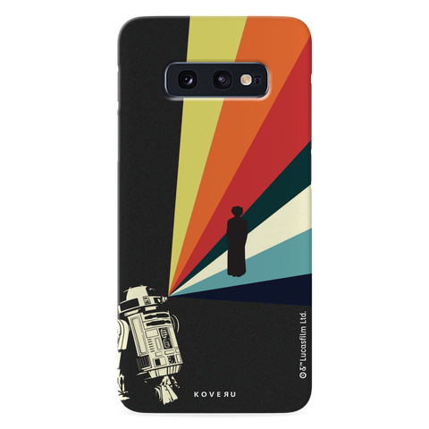 Star Wars: The Retro Message of Hope Cover Case for Samsung Galaxy S10E