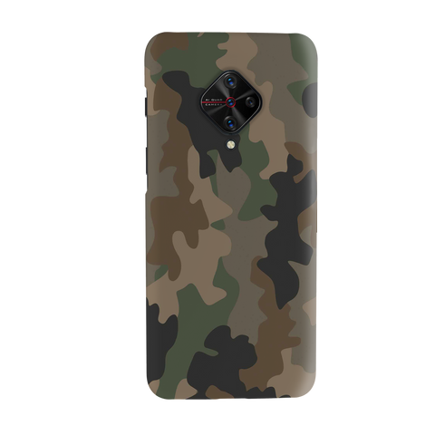 Army Abstract Camo Cover Case for Vivo S1 Pro