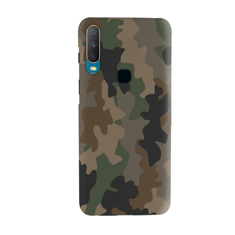 Amry Abstract Camouflage Cover Case for Vivo Y17