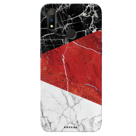 Red Marble Cover Case for Realme 3 Pro