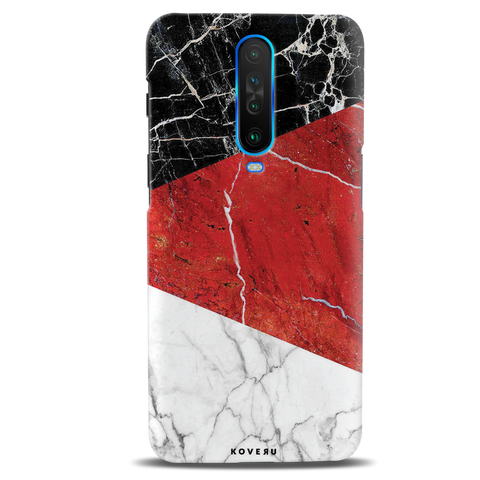 Red Marble Cover Case for Poco X2