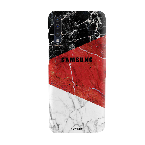 Red Geomatric Marble Cover Case for Samsung Galaxy A50