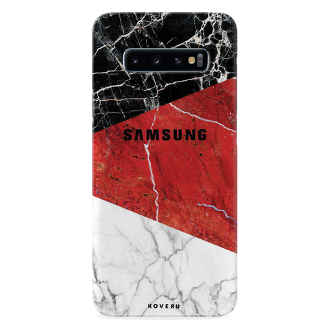 Red Geomatric Marble Cover Case for Samsung Galaxy S10