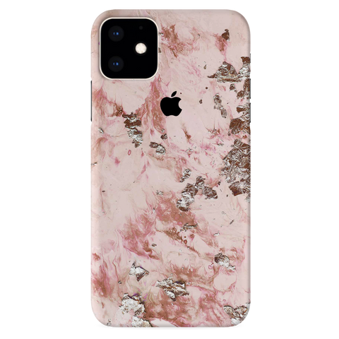 Pink Marble Cover Case for iPhone 11